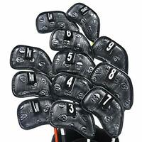 Champkey Skull Golf Iron Head Cover Pack of 12pcs,Exclusive Skull Pattern