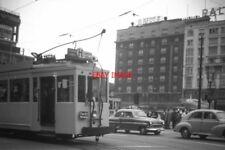 PHOTO  BELGIUM TRAM 1959 PLACE ROGIER SNCV PART OF STANDARD CAR  ON ROUTE H