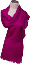 Pashmina Schal 70% Cashmere 30% Seide silk Pink Jacquard scarf écharpe