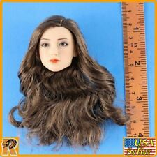 S38 - Pale Female Head w/ Brown hair - 1/6 Scale - TBLeague Figures