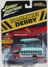 JOHNNY LIGHTNING STREET FREAKS DEMOLITION DERBY 1956 CHEVY SCHOOL BUS #6 A