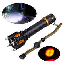 2000LM Cree T6 LED Tactical Flashlight Attack Head Self Defense Electrical Torch