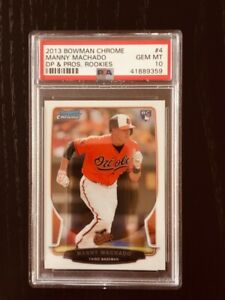 Manny Machado 2013 Bowman Chrome Rookie Card PSA10