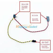 SJ4000/5000/6000 Camera FPV 2 in 1 Wireless Transmission AV Cable