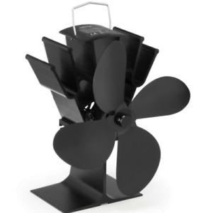 4 Blade Heat Powered Hot Air Circulation Stove Fan Grade B Used