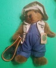 """Boyd's 14"""" Hemingway K. Grizzman Bear Style #91263 with Tags & Wooden Fishnet"""