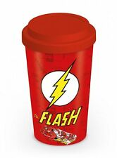The Flash - Logo - Double Wall Ceramic Travel Mug With Silicon Lid - DC Comics