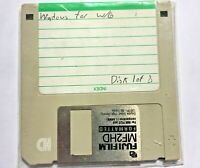 """Microsoft Windows for W/6 OS Disk 1 of 8 3.5"""" Floppy Diskette Vintage Computer"""