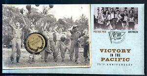 2020 End of WWII 75th Anniversary of Peace in The Pacific FDC/PNC with $1 Coin