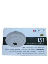 ACTI I51 5MP IP Camera Indoor Hemispheric Dome Fisheye Lens Advanced WDR