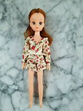 Vintage Early Generation 3 Licca Chan Doll + Snapstars Dress - Needs Tlc