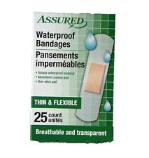 Waterproof First Aid Bandages Thin Flexible 25 Count First Aid Supplies
