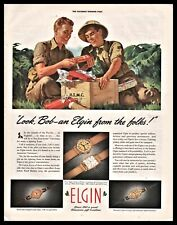 1942 WWII USMC U.S Marines Pacific Christmas Package from home  Elgin Watch AD
