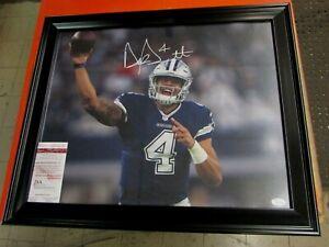 Dallas Cowboys Dak Prescott autographed/Signed 16x20 spotlight Framed Photo