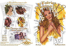 Marjolein Gulinski Yellow Flower Fairy Faery Faires Coloring Book Retired HTF