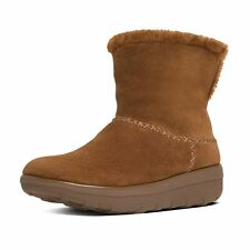 Women Fitflop Mukluk Shorty 2 bOOTS B96-047 Chestnut Suede 100% Authentic B. New