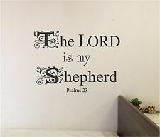 The LORD is my Shepherd Wall lettering Decor Vinyl Decal Bible Verse