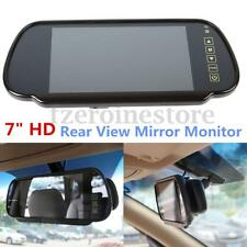 7'' HD LCD TFT Screen Reverse Rear View Backup Camera DVD Mirror Monitor For Car