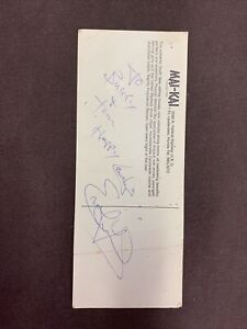 Evel Knievel Autographed Post Card Signed