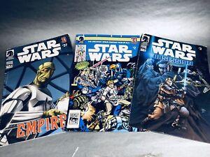 Dark Horse Comics ~ Lucas Books ~ HasbroLot of 3 Variant Edition Star Wars