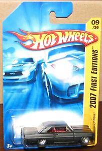 Hot Wheels 2007 First Edition  #09 '66 CHEVY NOVA Flat Black