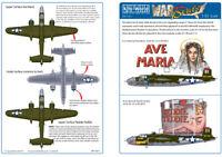 KITS-WORLD 1/32 B-25J Mitchell ART SUR LE NEZ DES AVIONS feuille 2 #32011