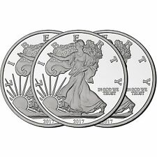 2017 Silver American Eagle Medallion by SilverTowne 5oz .999 Silver (3pc)