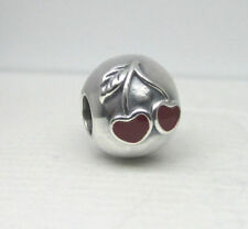Red Cherries Clip 925 Sterling Silver European Charm Bead