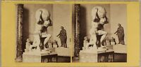 Italia Museo Da Napoli Atlas c1865 Foto Stereo Vintage Albumina