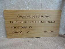 1999 GRAND VIN DE BORDEAUX MARIE BRIZARD BARDSTOWN KY  WINE PANEL END