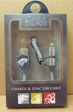 NEW Primark Official Game of Thrones 1M USB Charger Cable For iPhone 5 6 7 8 X