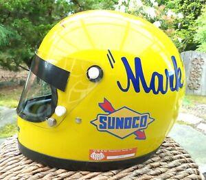 VINTAGE MARK DONOHUE,1972 INDY 500 RACE WIN HELMET, SUNOCO PENSKE , FULL SIZE