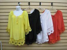 women clothing , blouse- plus size , unique spectrum