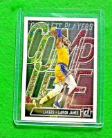 LEBRON JAMES COMPLETE PLAYERS CARD LOS ANGELES LAKERS 2019-20 DONRUSS BASKETBALL