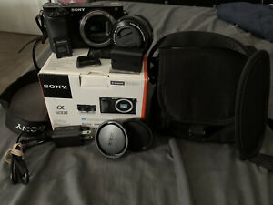 sony alpha a6000 mirrorless digital camera w/ 16-50mm lens and more