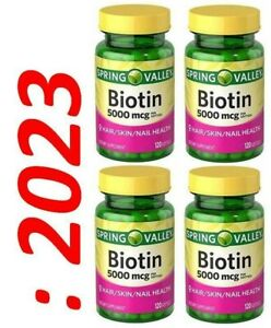 Biotine 5000mcg 4X120 = 480 Gélule Fabriqué Peau / Cheveux / Ongle 8 Mois D