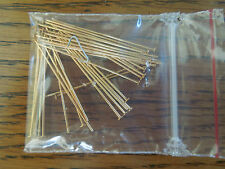 Gold Plated  Flat Headpin 21 gauge findings 144 pieces 1 1/2 inch