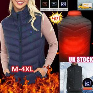 Unisex Electric Vest Heated Cloth Top Jacket USB Warm Up Heating Body Warmer UK