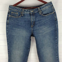 Universal Thread Womens Sz 12 Blue Med Wash Cotton High Rise Straight Jeans LNC