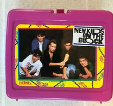 Vintage Rare 1990 New Kids On The Block Nkotb Pink Lunchbox - Mint Condition