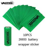 Camouflage Skin 10PCS 18650/26650 Li-ion Battery Stickers PVC Protective Wrap D