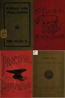 110 OLD BOOKS ON BLACKSMITHING, HORSESHOE, METALLURGY, FORGE & MORE ON DVD