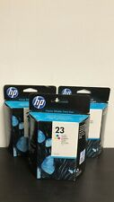 LOT OF 3 HP 23 Tri-Color Ink Cartridge New in Box Expired 4/2014, 7/2011