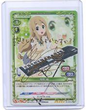 Precious Memories K-ON Tsumugi Kotobuki gold Holo Foil signed TCG anime card 8-2