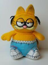"Vtg 1983 Plush Talking Pull String Garfield Cat Doll Toy Mattel 10"" Moving Eyes"