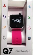 Q7 SPORT SMARTWATCH ANDROID 4.4+ iPHONE IOS 7.2 +HIGHER MAUVE-PINK STRAP#PM1