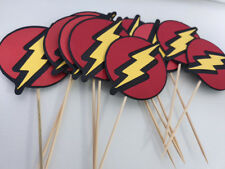 12x Large The Flash Edible Cupcake Toppers Birthday Party Cake Decoration