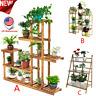 Multi-Tier Wood Plant Stand Planter Rack Flower Pots Holder Display USA Lot