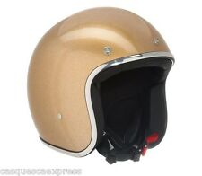 CASQUE SCOOTER MOTO STORMER JET PEARL PAILLETE GOLD