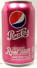 "MT UNOPEN 12oz 355ml American Can ""Real Sugar"" Wild Cherry Pepsi Ltd Ed USA 2014"